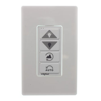 Enlightened Lighting Enlighted Lighting WS-2-00 Wireless Lighting Control Switch, 4-Button, White