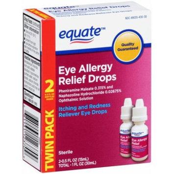 Equate Eye Allergy Relief Drops, 0.5 Oz, 2 Pk