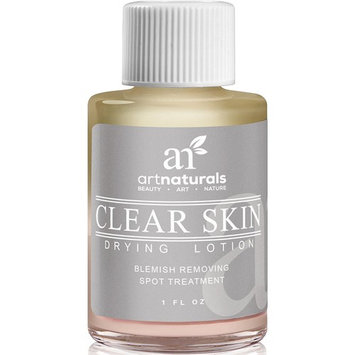 ArtNaturals Clear Skin Drying Lotion, Acne Spot Remover Treatment for Fast Drying, Shrinks Whiteheads and Fades Out Face Blemishes, 1 fl. oz.