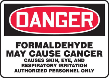Accu Form DANGER FORMALDEHYDE MAY CAUSE CANCER CAUSES SKIN, EYE, AND RESPIRATORY IRRITATION AUTHORIZED PERSONNEL ONLY