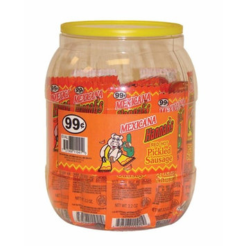 Hannah's Mexicana Red Hot Pickled Sausage 20 ct. Jar