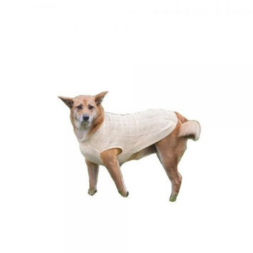 Ethical Products Inc Ethical Donegal Cable Knit Dog Sweater Large Cream 651006