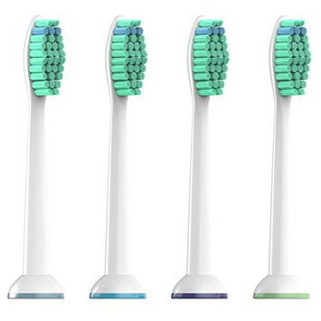 Generic Proresults Replacement Heads for Philips Sonicare Toothbrushes, 4 Pack [4, 8, 12, 20 Packs Available] fit Essence+, Plaque Control, Gum Health, DiamondClean, FlexCare, HealthyWhite [4]