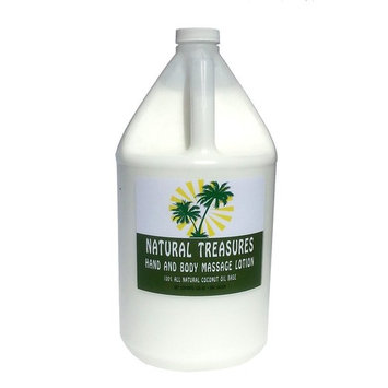 128oz - One Gallon Hand and Body Massage Lotion From Natural Treasures. Our Most Affordable Massage Lotion with a Coconut. Oil Base. (Unscented)