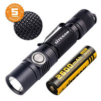 Tactical Flashlight Rechargeable with Power Indicator, 1380 Lumen, CREE XP-L, 5 Light Mode, IPX-8 Water-Resistant, 18650 Battery Included, For Camping, Hiking and Emergency [PS16]
