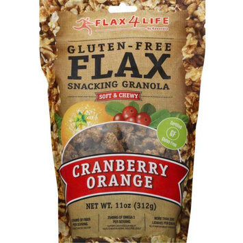 Flax4Life Gluten-Free Flax Snacking Granola Cranberry Orange 11 oz