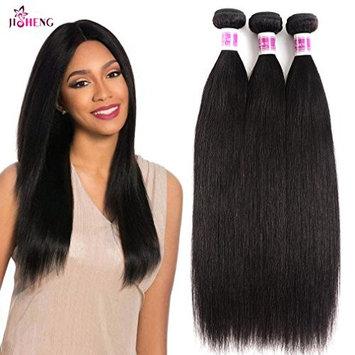 JiSheng Brazilian Straight Virgin Hair 3 Bundles Deals Human Hair Weave Natural Color(20 22 24inch)