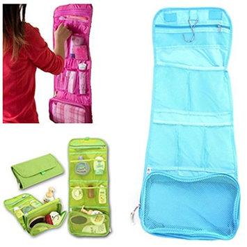 HENGSONG Women's Travel Cosmetic Make up Toiletry Hanging Folding Orgarnizer Bags Wash Bag
