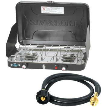 Stansport Compact Propane Stove With 5' Connection Hose