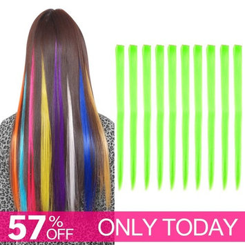 Carina Colored Clip in Hair Extensions 10pcs/lot 22 inch Straight Fashion Synthetic Hairpieces for Party Highlights Multi-Color