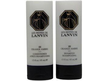 Les Notes de Lanvin Orange Ambre Shampoo & Conditioner Lot of 4(2 of Each)