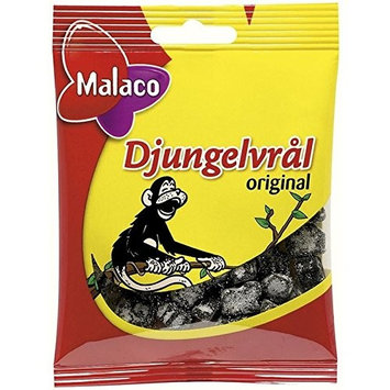 Malaco Djungelvral - Supersalty Liquorice 80g - Pack of 6
