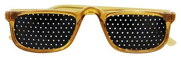 Natural Eyes - Pinhole Glasses 1/2 Frame Brown