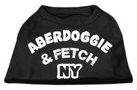 Mirage Pet Products 5101 XXLBK Aberdoggie NY Screenprint Shirts Black XXL 18