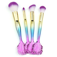 Makeup Brush Set,Putars 4PCS Colorful Professional Women Sexy Soft Material Cosmetic Concealer Brush Set for Perfect Application,for Eyebrow Eyeliner, Blush, Foundation, Contour and Blending
