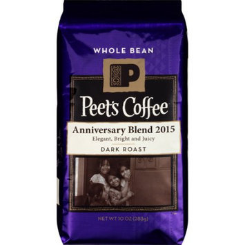 Peet's Coffee & Tea Peet's Coffee Anniversary Blend 2015 Dark Roast Whole Bean Coffee, 10 oz