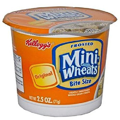 Product Of Kelloggs, Cereal In Cup Frosted Mini Wheats, Count 6 (2.5 oz) - Cereals / Grab Varieties & Flavors