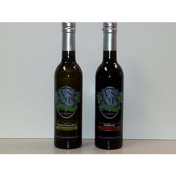 VSOP Organic Tuscan Herb Infused Extra Virgin Olive Oil & Traditional 18yr Aged Dark Balsamic Vinegar of Modena (2 Bottle) Combo Pack