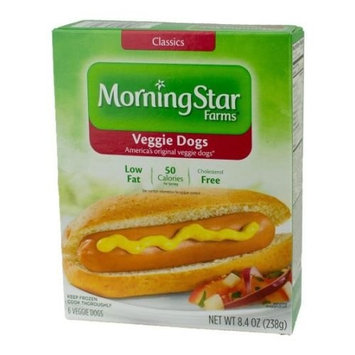 MorningStar Farms Veggie Dogs, 8.4 Ounce -- 8 per case.
