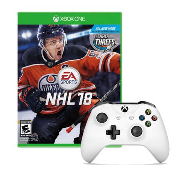 Microsoft Xbox One Controller in White with NHL 18