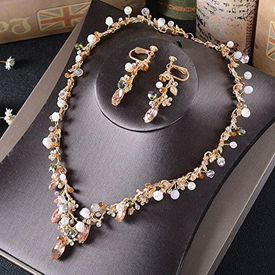 Missgrace Bridal Jewelry Sets Wedding Necklace Earring For Brides Party Accessories