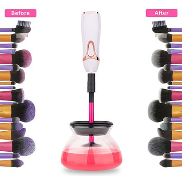 Makeup Brush Cleaner and Dryer Machine, Tested & Proven Clean & Dry with Cleanser in Seconds for 8 Multi-Size Brushes a Electric Cleaners by BeautyLush