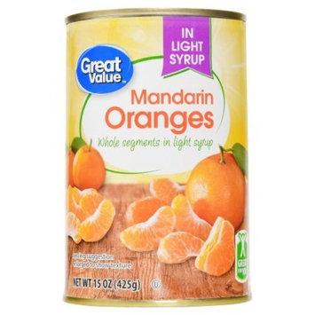 Great Value Mandarin Oranges Gluten Free, Light Syrup, 15 oz (4 Pack)