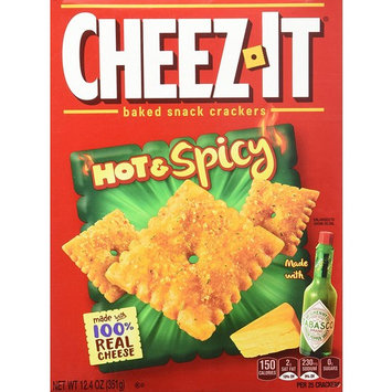 Cheez-It Hot and Spicy Crackers, 12.4 Ounce (Pack Of 12)