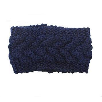 Ewandastore Women Girls Twist Wave Wool Knitting Knitted Hat Winter Warm Crochet Floral Headband Head Wrap Hair Band