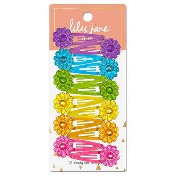 Lily Jane Designer Flower Snap Clips - 12ct