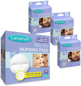 Lansinoh Disposable Nursing Pads and Breastmilk Storage Bags Combo Pack