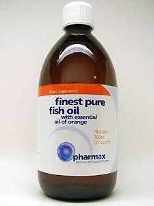 Pharmax Finest Pure Fish Oil with Essential Oil of Orange, 500mL