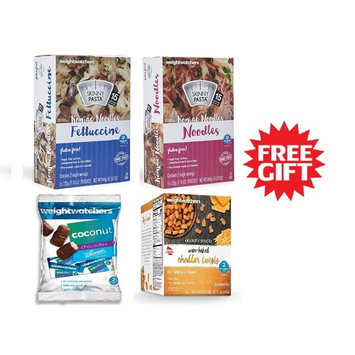 Weight Watchers Skinny Pasta Fettuccine Noodles Shape Pasta Gluten Free. Cheddar Twists Chocolates Variety Pack (6) Free Gift!