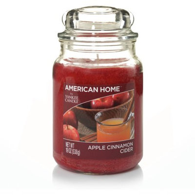 American Home by Yankee Candle Apple Cinnamon Cider, 19 oz Large Jar