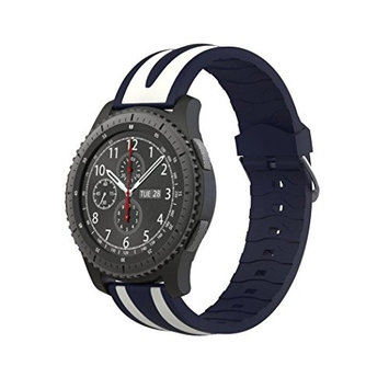 Gear S3 Classic/Frontier Sport Watch Band,AutumnFall New Quick Release Soft Silicone Double Stripe Watch Strap For Samsung Gear S3 Frontier