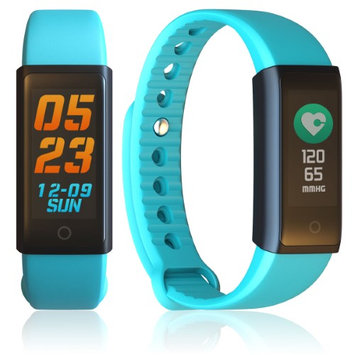 Indigi Active Fitness Tracking SmartBand - OLED Display / Blood Pressure / Heart Rate Sensor / Bluetooth Alerts(SMS/Call) iOS &