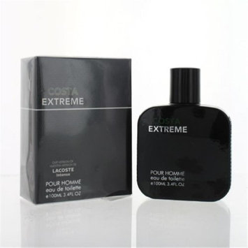 Eurolux ZZMEFCOSTAEXTREME34T Costa Extreme By Eau De Toilette Spray New in Box for Men 3.4 oz.