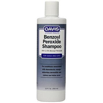 Davis Benzoyl Peroxide Medicated Dog & Cat Shampoo, 12 oz. – Dermatitis and Demodectic Mange