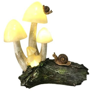Bella Products BGP706244 Bella Fairy Garden Mushrooms with Solar Light