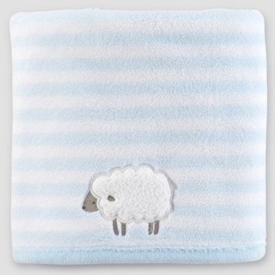 Baby Boys' Fluffy Fleece Blanket - Just One You® made by carter's Blue Sheep One Size