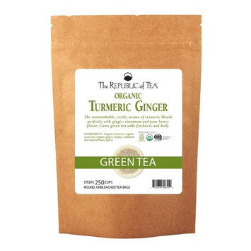 The Republic Of Tea Organic Turmeric Ginger Green Tea, 250 Tea Bags, Gourmet Green Tea And Turmeric Tea [Turmeric Ginger Green Tea]
