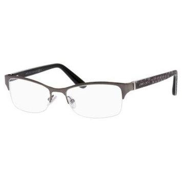 JIMMY CHOO Eyeglasses 100 06Us Dark Ruthenium Pyth Gray 53MM