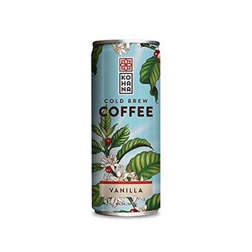 Kohana Cold Brew Coffee Beverage - Taihitian Vanilla - Case of 12 - 8 Fl oz.