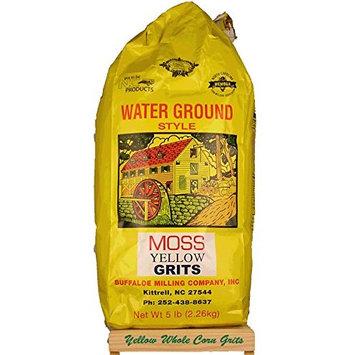 Moss Water Ground Yellow Corn Grits 5 Lbs