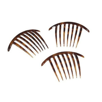 French Twist Comb Made in France Tortoise Shell - Set of Three (3) by Ear Mitts; EarMitts