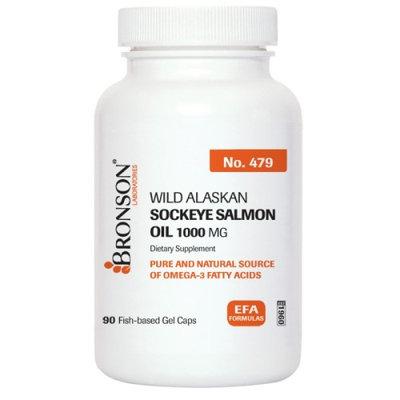 Bronson Vitamins Sockeye Salmon Oil 1000 mg Softgels
