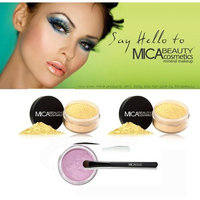 2x Mica Beauty Mineral Loose Foundation Color: Mf8 Down Town Brown + Oval Eye Shadow Brush + Eye Shimmer #25 Orchid 1.75 Grams + A-viva Nail Kit
