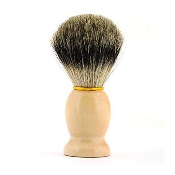 Corldif 100% Pure Badger Shaving Brush,Pure Badger Brushing Men's Luxury Professional Hair Salon Tool(Yellow)