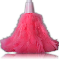 22'' Extra Long Quality Bright Coloured Feather Duster Treated To Attract Dust For Use On Furniture, Lamp Shades, Blinds, TV Cabinets, Doors, Windows, Desks & Ornaments.
