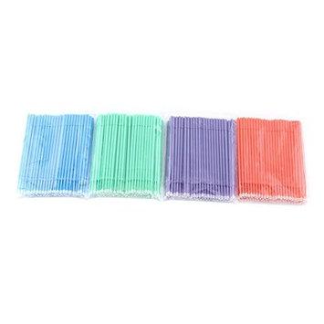 Yosoo 400Pcs Disposable Micro Eyelash Brushes, 3 Size Makeup Brush Bendable Micro Mascara Applicators for Women Eyelash Extension Swab Micro Brush Beauty Tools